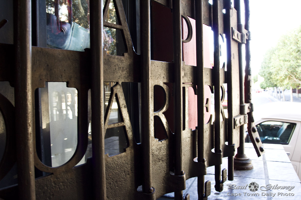 Iron gates of the Cape Quarter