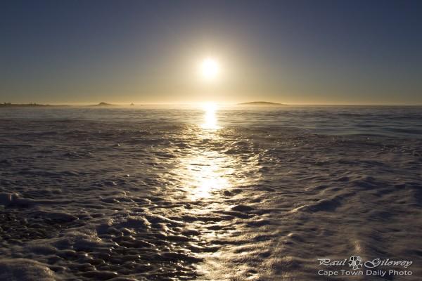 A sun on the horizon