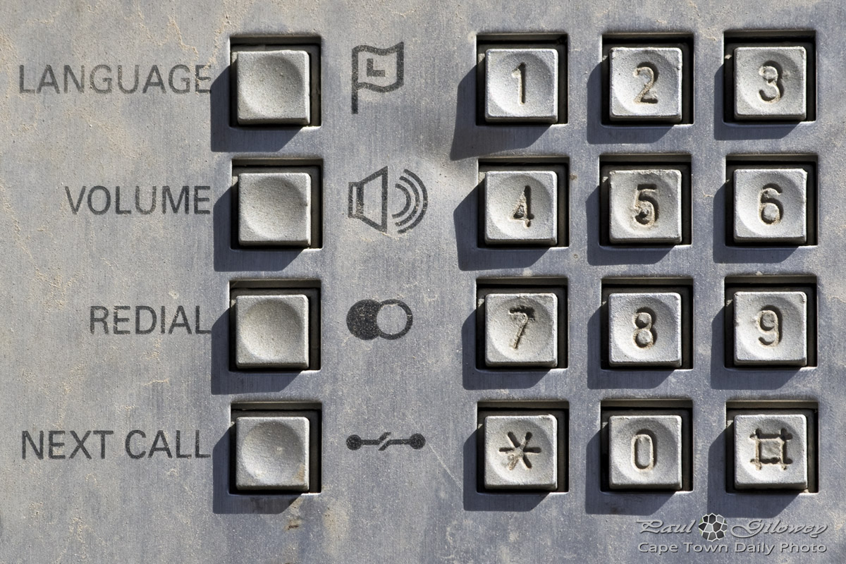 Public telephone buttons