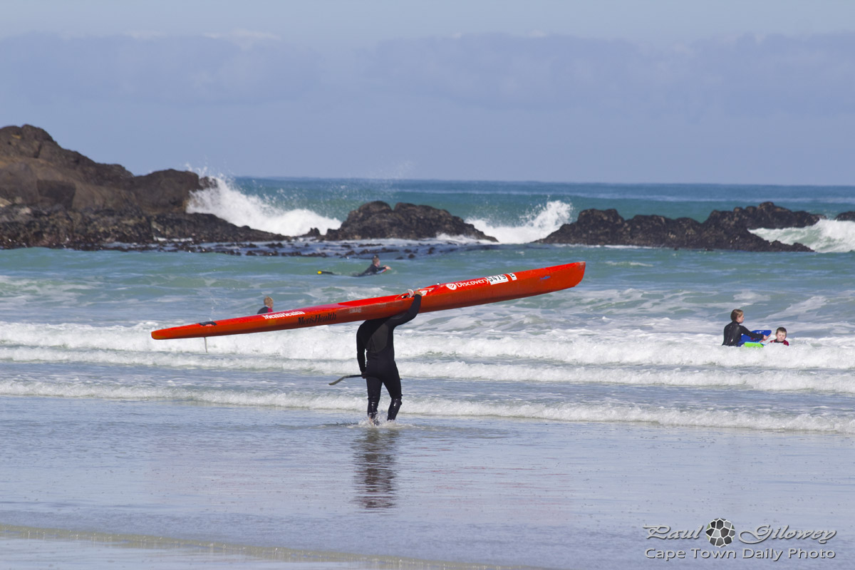 Surfski at Big Bay