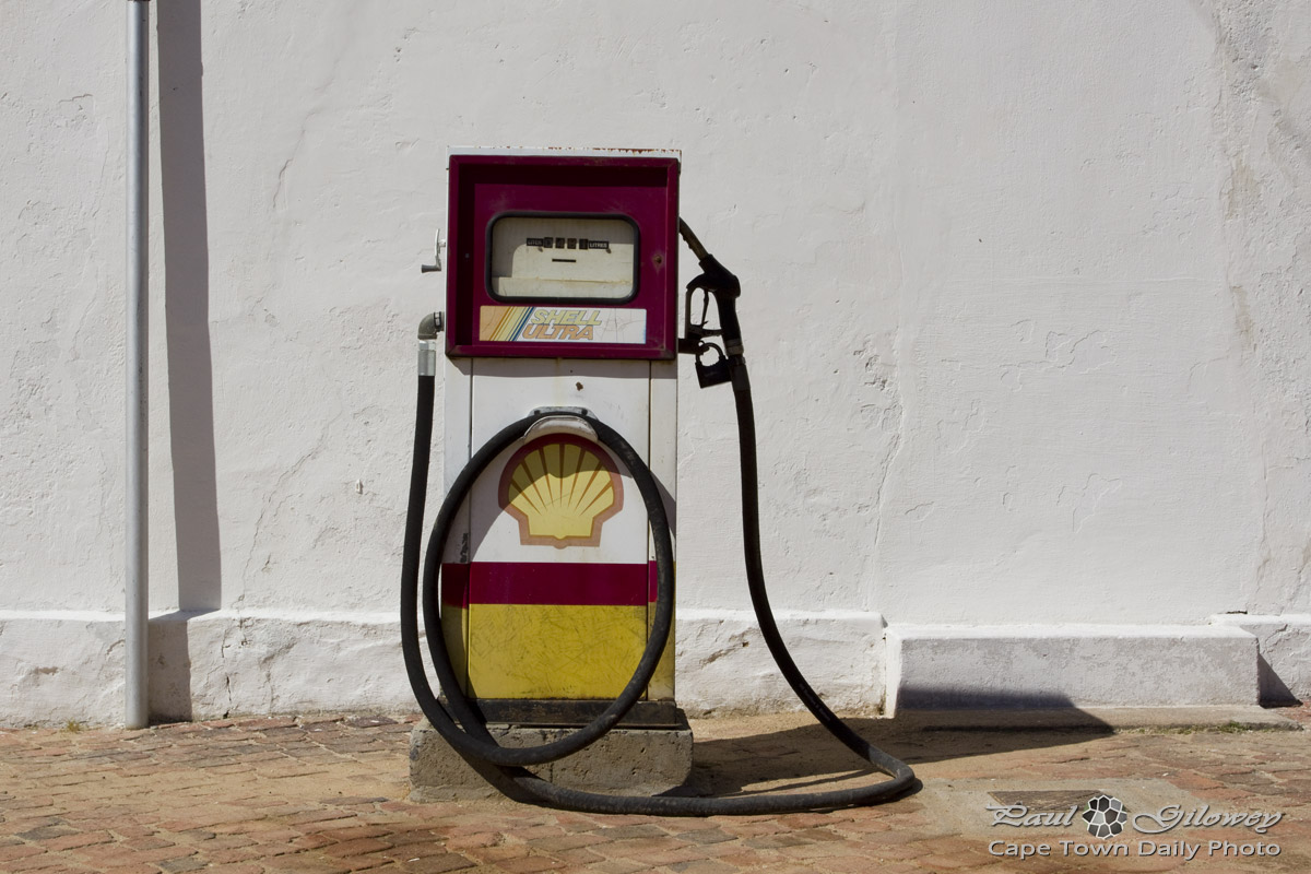 Old Shell petrol pump