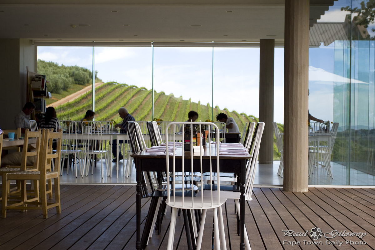 Late breakfast at Tokara