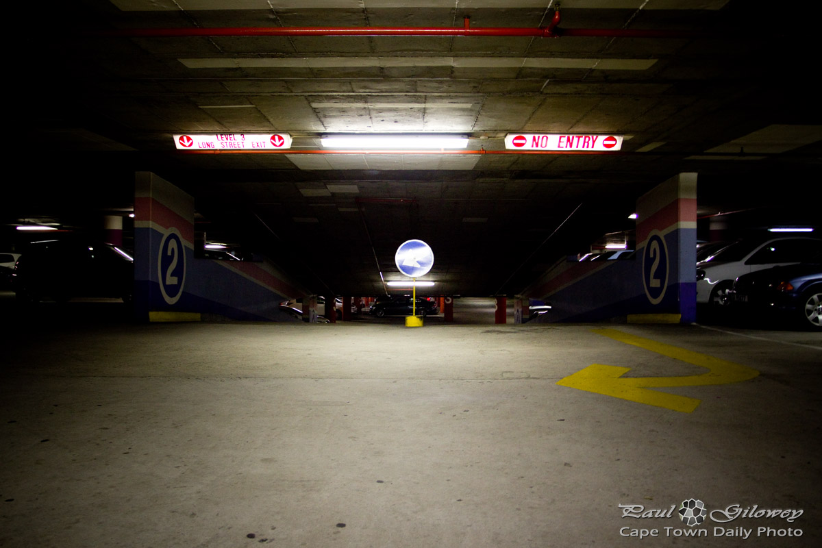 Cold 'n dark parking garage