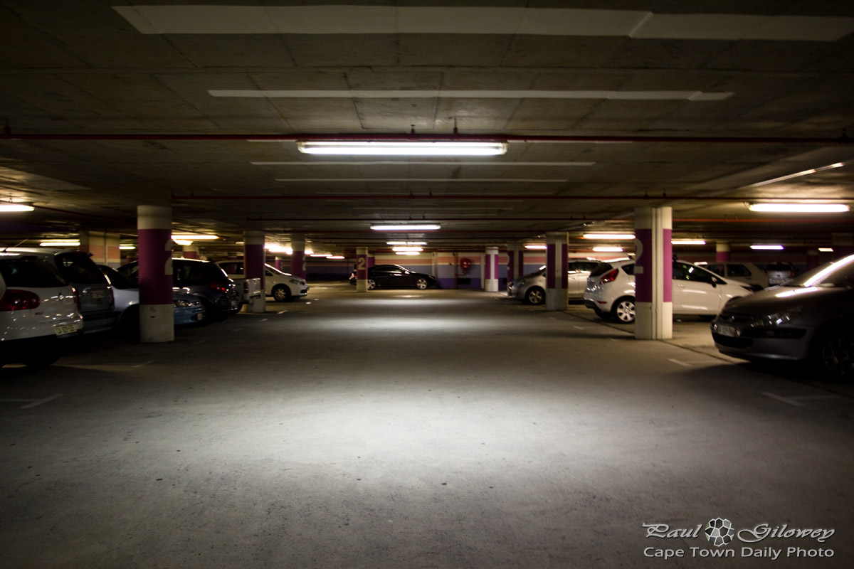 Cold concrete parking garages