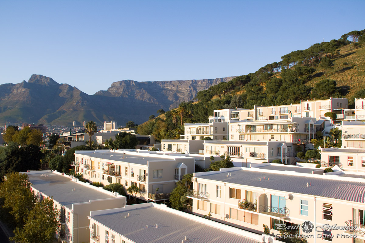 Apartments against Signal Hill
