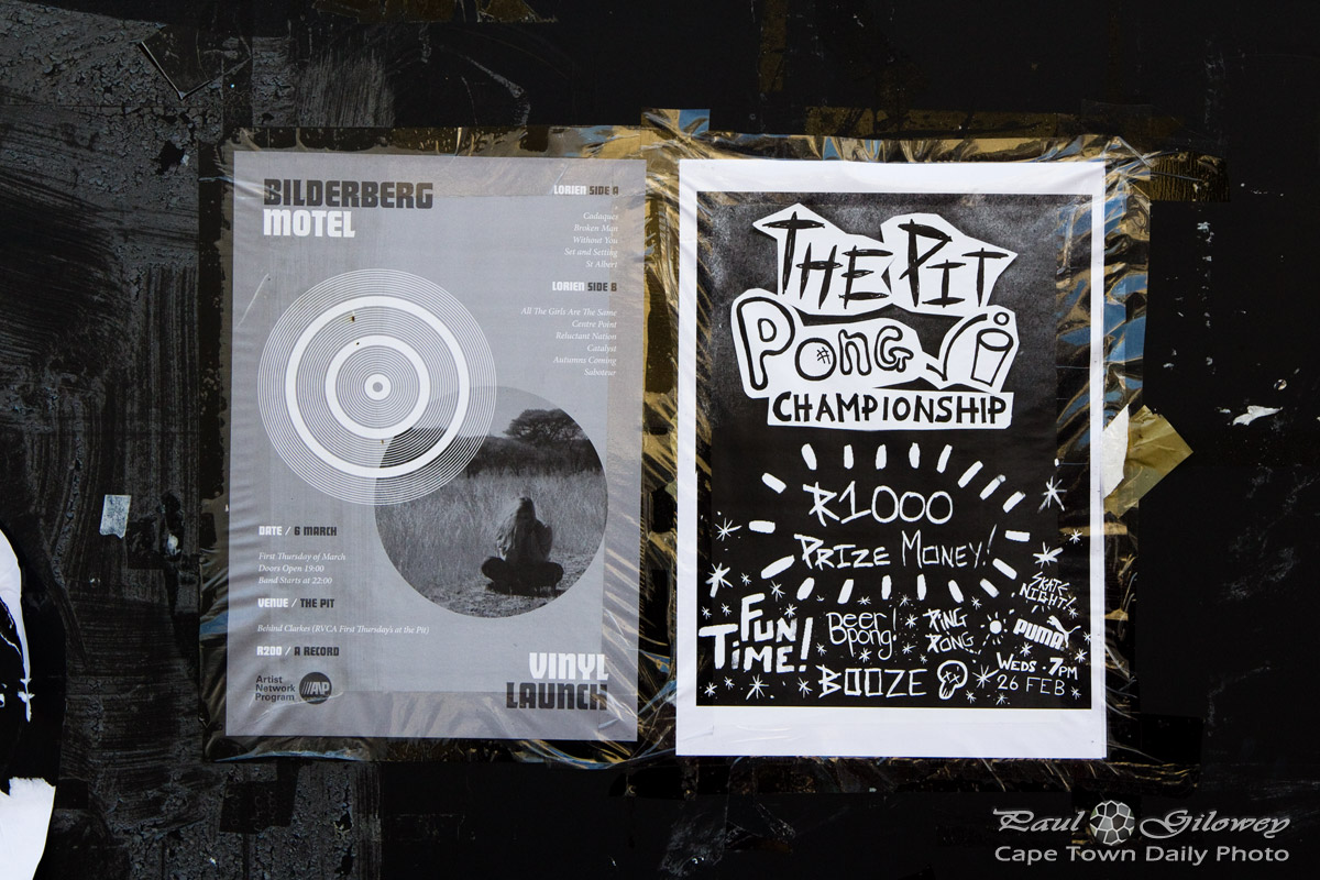 Old street posters and the Pit Pong Championship