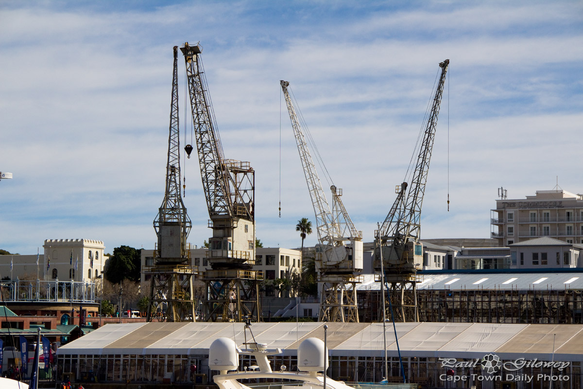 The cranes of Robinson Dry Dock