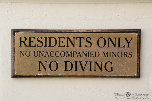 No diving no fun