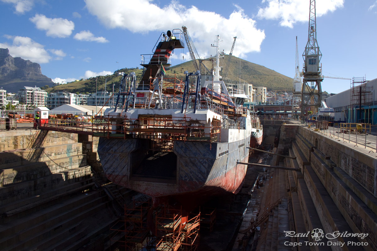 Dry dock in action