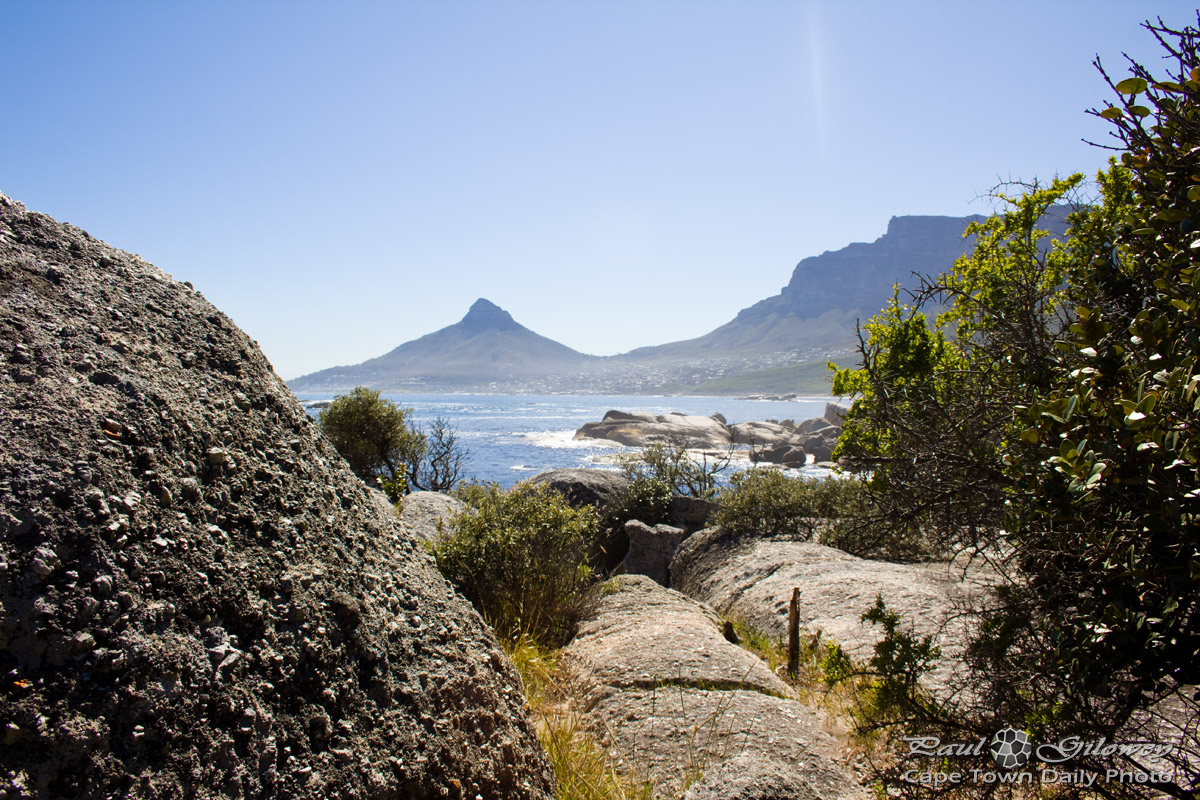 Between the rocks at Oudekraal