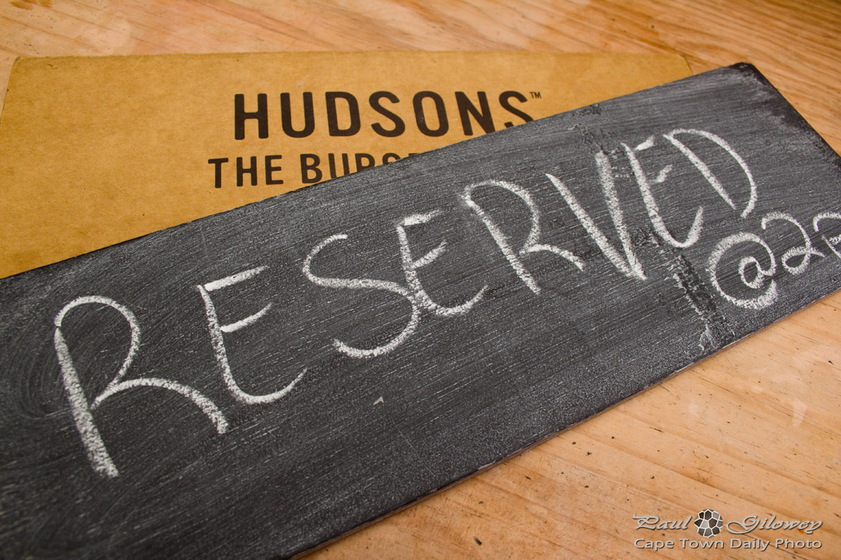 Reserved @ Hudsons