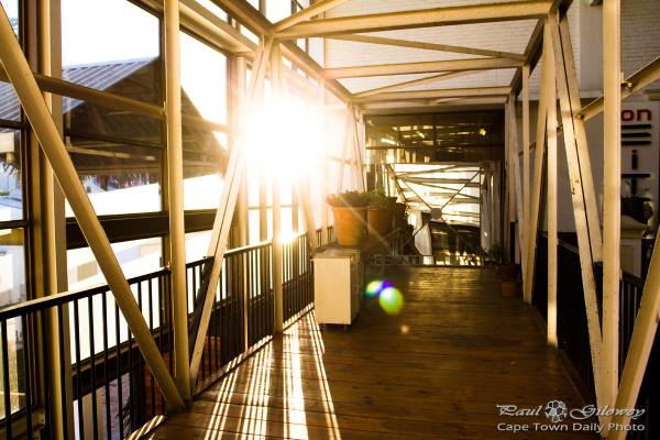 Sunlit walkway