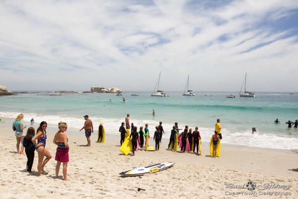 Beach kids and bodyboards