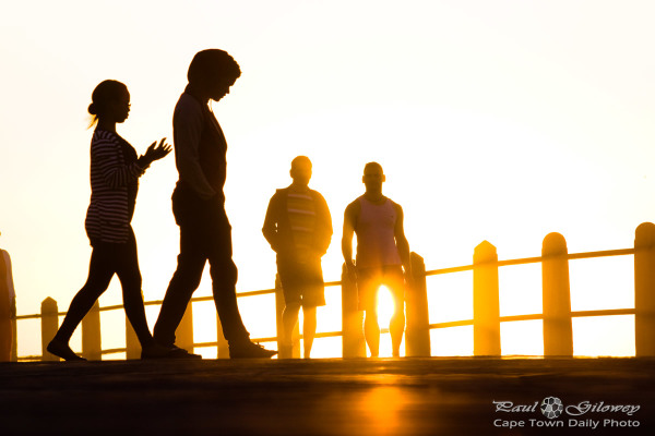Promenade silhouette