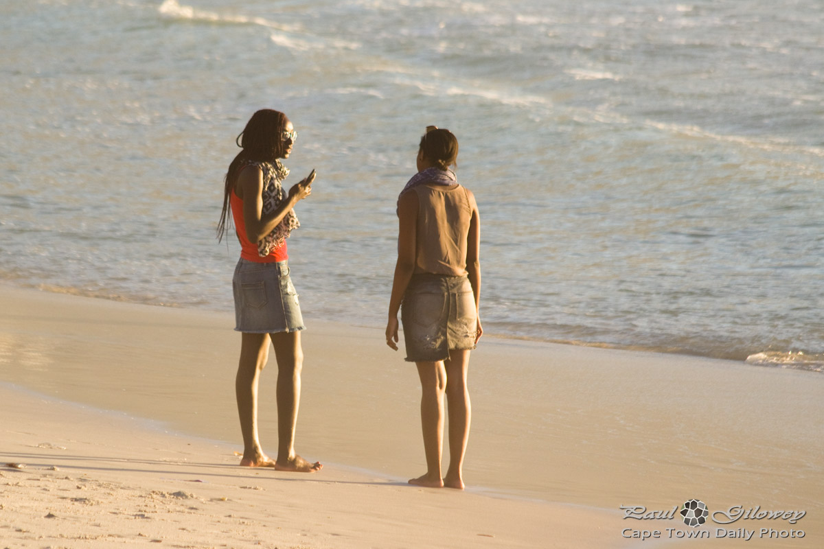 Girl-friends on Glen Beach