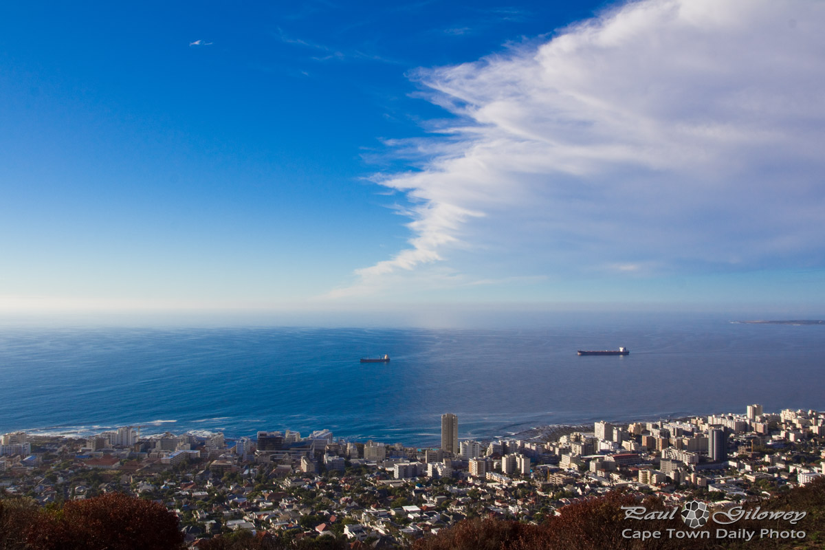 Encroaching cloud - a view from Lion's Head