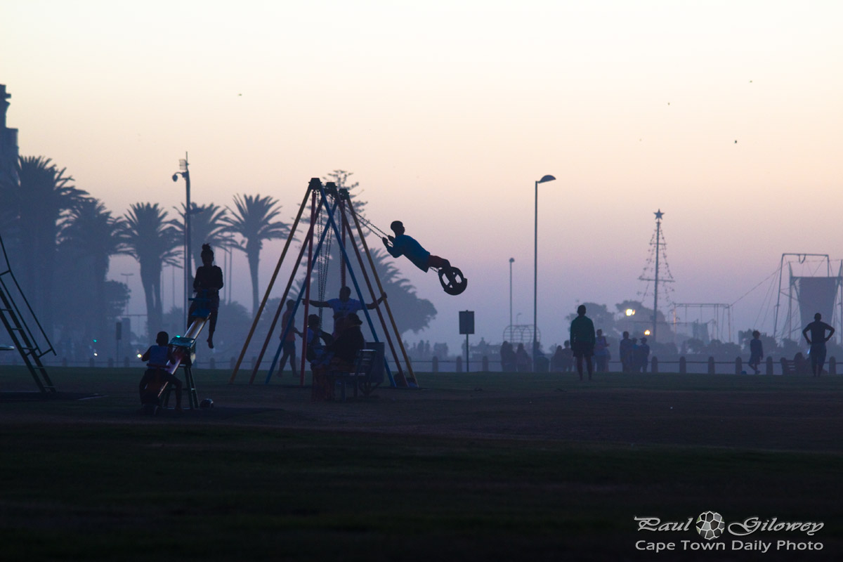 Swinging at dusk