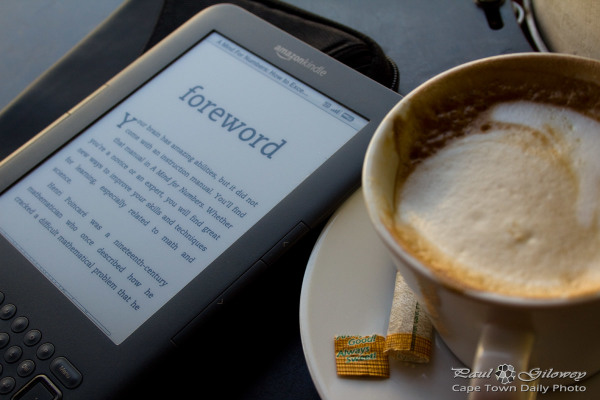 Kindle 'n coffee