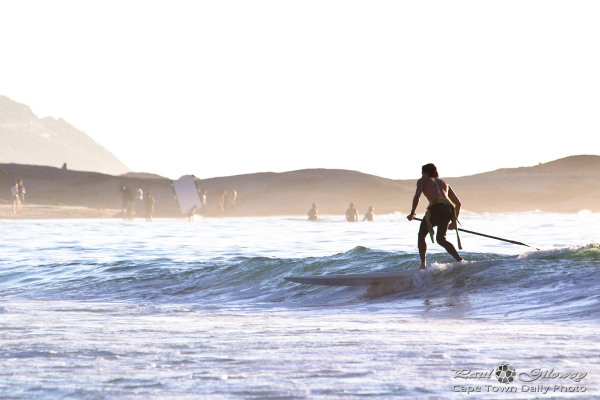 SUP 'n splash in Camps Bay