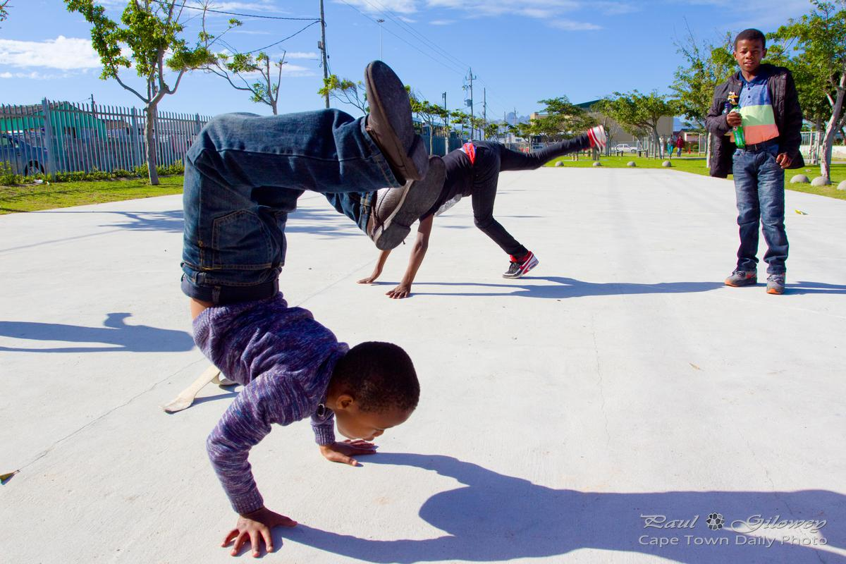 Kids playing at Khayelitsha Wetlands Park