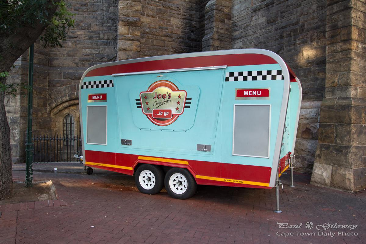 Joe's Easy Diner caravan at the top of Adderley