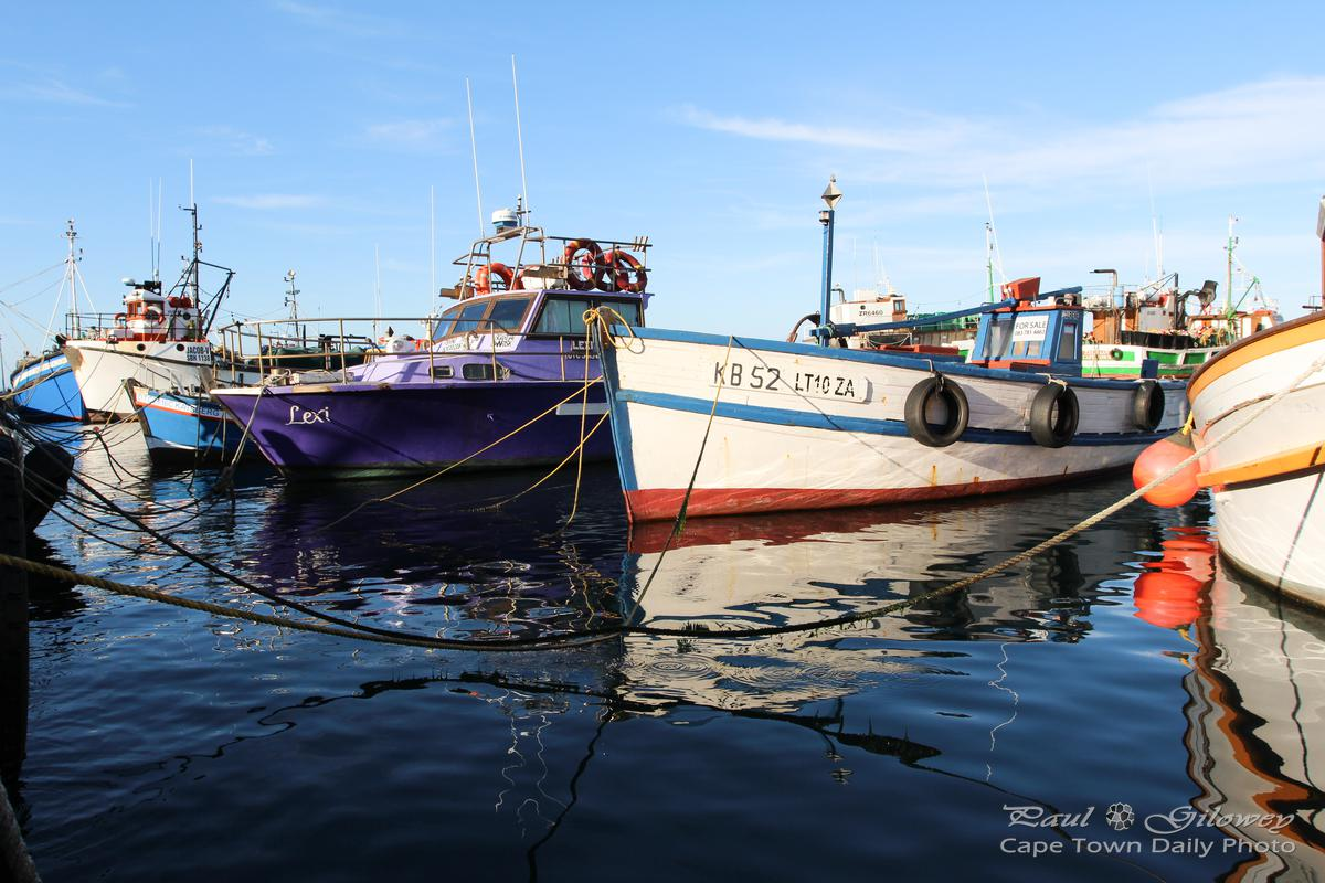 Kalk Bay's colourful fishing boats