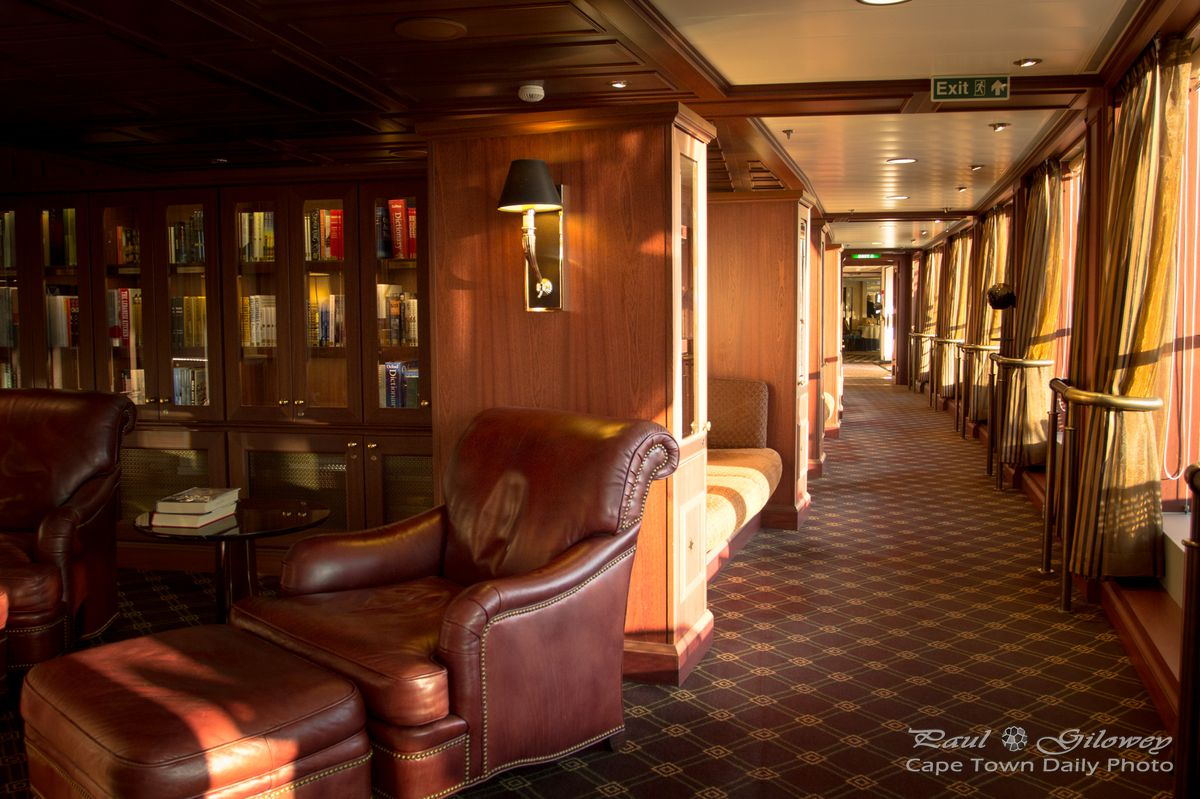 Library aboard the Oceania Marina