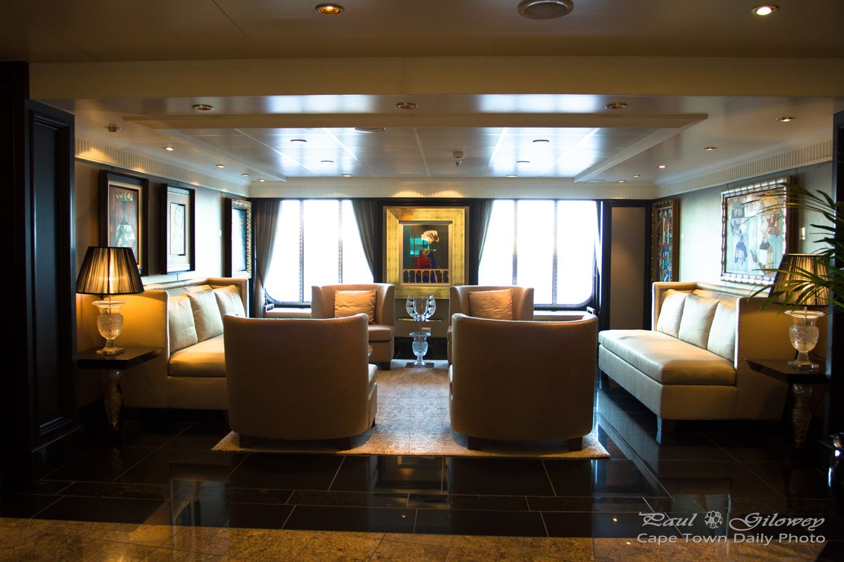 Lounge aboard the Oceania Marina